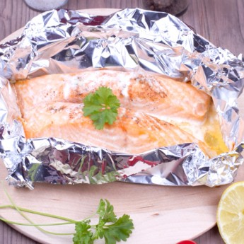 Barbecued Salmon Papillote
